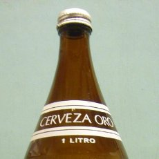 Coleccionismo de cervezas: BOTELLA DE CERVEZA ORO, 1 LITRO.. Lote 125161423