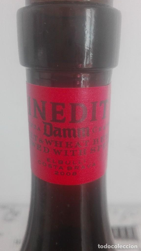 INEDIT (ESTRELLA DAMM) *** BOTELLA DE CERVEZA COUPAGE LLENA 75 CL BULLI COSTA BRAVA 2008 (Coleccionismo - Botellas y Bebidas - Cerveza )