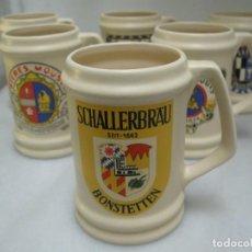 Coleccionismo de cervezas: COLECCIÓN 6 JARRAS DE CERVEZA AÑOS 80. Lote 126752023
