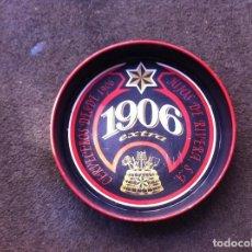 Coleccionismo de cervezas: BANDEJA METÁLICA DE CERVEZA ESTRELLA GALICIA (1906, HIJOS DE RIVERA) DIÁMETRO: 35CM. ALTURA: 6CM. Lote 172161067