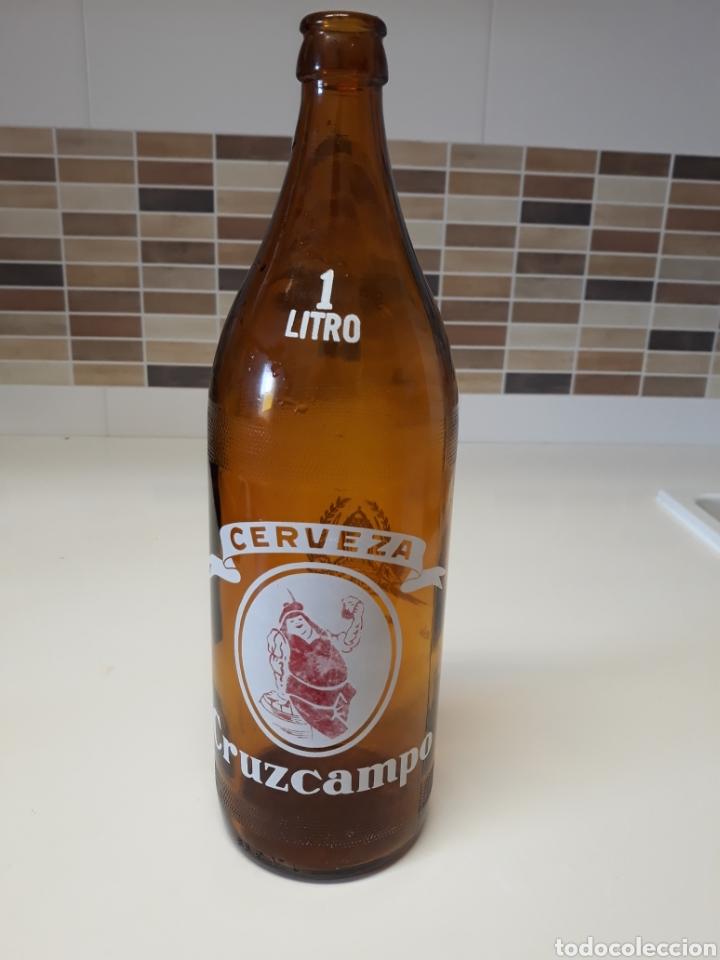 Coleccionismo de cervezas: Botella cerveza Cruzcampo - Foto 2 - 128109583