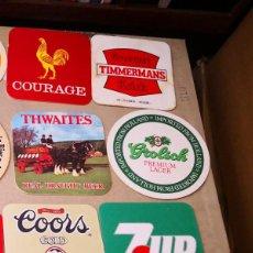 Coleccionismo de cervezas: LOTE DE 43 POSAVASOS VARIADOS . Lote 128123439