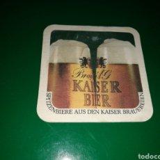 Coleccionismo de cervezas: ANTIGUO POSAVASOS DE CERVEZA KAISER. Lote 128348978