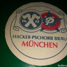 Coleccionismo de cervezas: ANTIGUO POSAVASOS DE CERVEZA HACKER- PSCHORR BRAU DE MUNICH. Lote 128349186