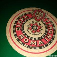 Coleccionismo de cervezas: ANTIGUO POSAVASOS CERVEZA PERONI DE ROMA. Lote 128355370