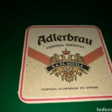 Coleccionismo de cervezas: ANTIGUO POSAVASOS CERVEZA ADLERBRAU DEL ÁGUILA. Lote 128355559
