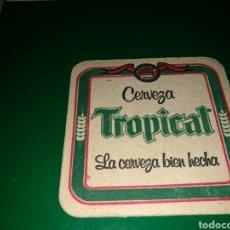 Coleccionismo de cervezas: ANTIGUO POSAVASOS CERVEZA TROPICAL. Lote 128355632