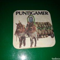 Coleccionismo de cervezas: ANTIGUO POSAVASOS DE CERVEZA PUNTIGAMER. Lote 128361152