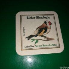 Coleccionismo de cervezas: ANTIGUO POSAVASOS DE CERVEZA LICHER. Lote 128361259