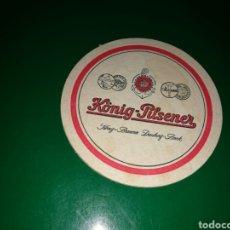 Coleccionismo de cervezas: ANTIGUO POSAVASOS DE CERVEZA KÖNIG-PILSENER. Lote 128361827