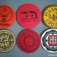 Coleccionismo de cervezas: 6 POSAVASOS DE CERVEZA 4. Lote 128464059