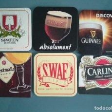 Coleccionismo de cervezas: 6 POSAVASOS DE CERVEZA 6. Lote 128464239