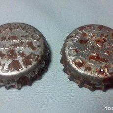 Coleccionismo de cervezas: LOTE 2 CHAPAS DOMINGO ALGUAIRE. Lote 128480691