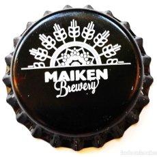 Coleccionismo de cervezas: CHAPA NUEVA CERVEZA ARTESANA MAIKEN - PAÍS VASCO-ESPAÑA. Lote 128488510