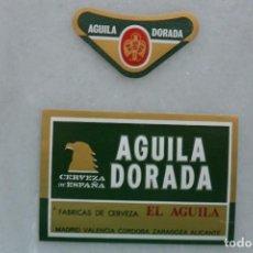 Coleccionismo de cervezas: ETIQUETA DE CERVEZA AGUILA DORADA. EL AGUILA.SIN PEGAR. Lote 128638875