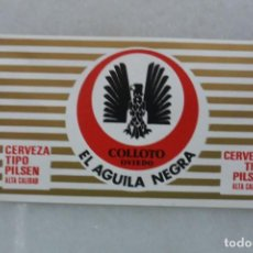 Coleccionismo de cervezas: ETIQUETA DE CERVEZA AGUILA NEGRA. EL AGUILA.SIN PEGAR. Lote 128639003