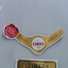 Coleccionismo de cervezas: ETIQUETA DE CERVEZA ORO CERVECERA DEL NORTE BILBAO SIN PEGAR. Lote 128639455