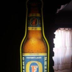 Coleccionismo de cervezas: CERVEZA CARTEL LUMINOSO FOSTER LAGE. Lote 128690463