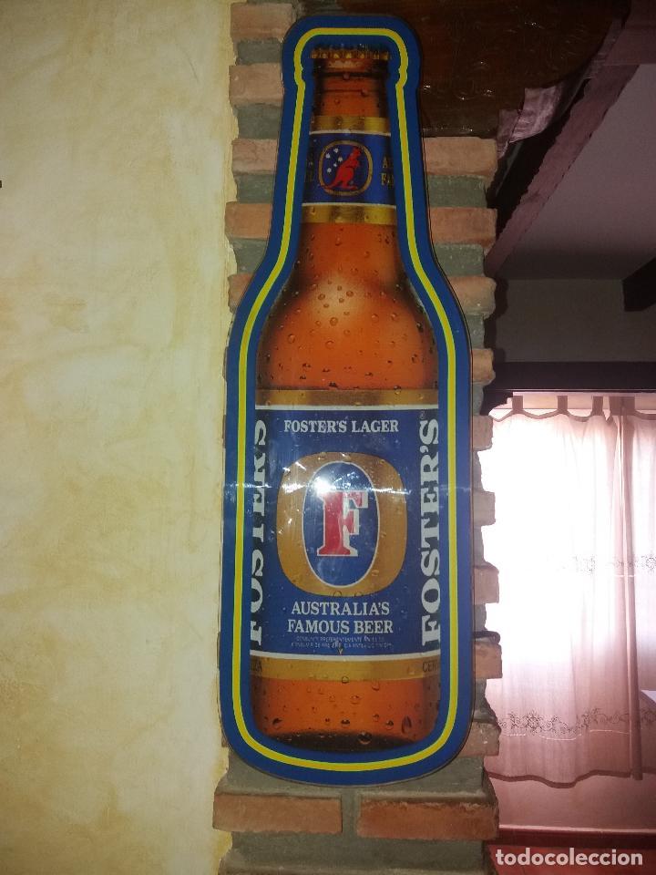 Coleccionismo de cervezas: CERVEZA CARTEL LUMINOSO FOSTER LAGE - Foto 2 - 128690463