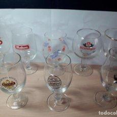 Coleccionismo de cervezas: COLECCION COPAS DE CERVEZA ANTIGUAS. Lote 129173803
