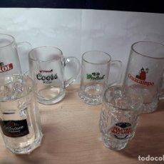 Coleccionismo de cervezas: COLECCION JARRAS DE CERVEZA ANTIGUAS. Lote 129174035