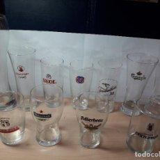 Coleccionismo de cervezas: COLECCION VASOS DE CERVEZA ANTIGUAS. Lote 129174215