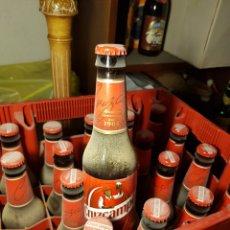 Coleccionismo de cervezas: CAJA DE BOTELLAS CERVEZA LLENA CRUZCAMPO 1904. Lote 130232635