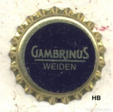 Coleccionismo de cervezas: CHAPA CERVEZA GAMBRINUS WEIDEN - ALEMANIA XAPA KRONKORKEN TAPPI BOTTLE CAP CAPSULE. Lote 130473338