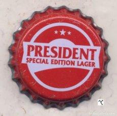 Coleccionismo de cervezas: CHAPA CERVEZA PRESIDENT - KENIA XAPA KRONKORKEN TAPPI BOTTLE CAP CAPSULE. Lote 130477626