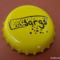 Coleccionismo de cervezas: CHAPA CERVEZA ARTESANA SARGS. LOGROÑO.FAB. CHAPA. JF-----LOTE N. 2826---CARMANJO. Lote 130497854