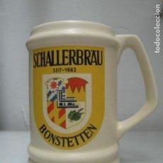 Coleccionismo de cervezas: JARRA CERVEZA CERÁMICA AÑOS 80 SCHALLERBRAU. Lote 130551246