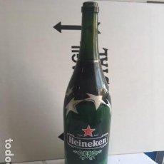 Coleccionismo de cervezas: BOTELLA CRISTAL GIGANTE HEINEKEN, 3 L. UEFA CHAMPIONS LEAGUE, 49 CM. Lote 130665493