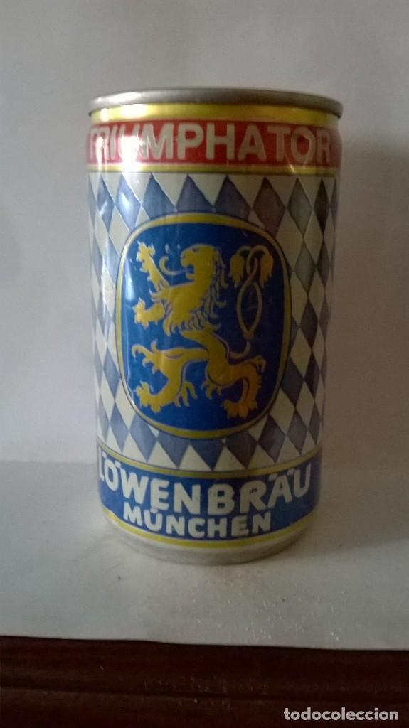 LATA CERVEZA LOWENBRAU TRIUMPHATOR ALEMANIA (Coleccionismo - Botellas y Bebidas - Cerveza )