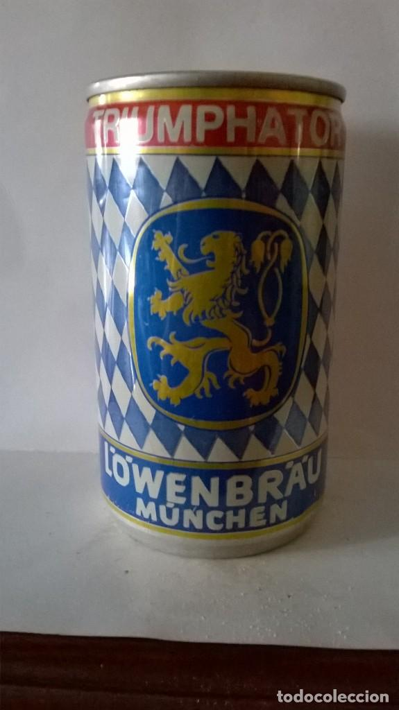 Coleccionismo de cervezas: Lata cerveza lowenbrau triumphator alemania - Foto 2 - 131362258