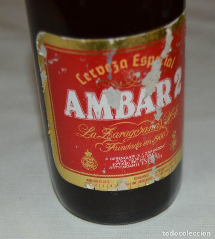 Coleccionismo de cervezas: BOTELLA - AMBAR 2 - COMPLETA - CON CHAPA - Foto 3 - 131654218