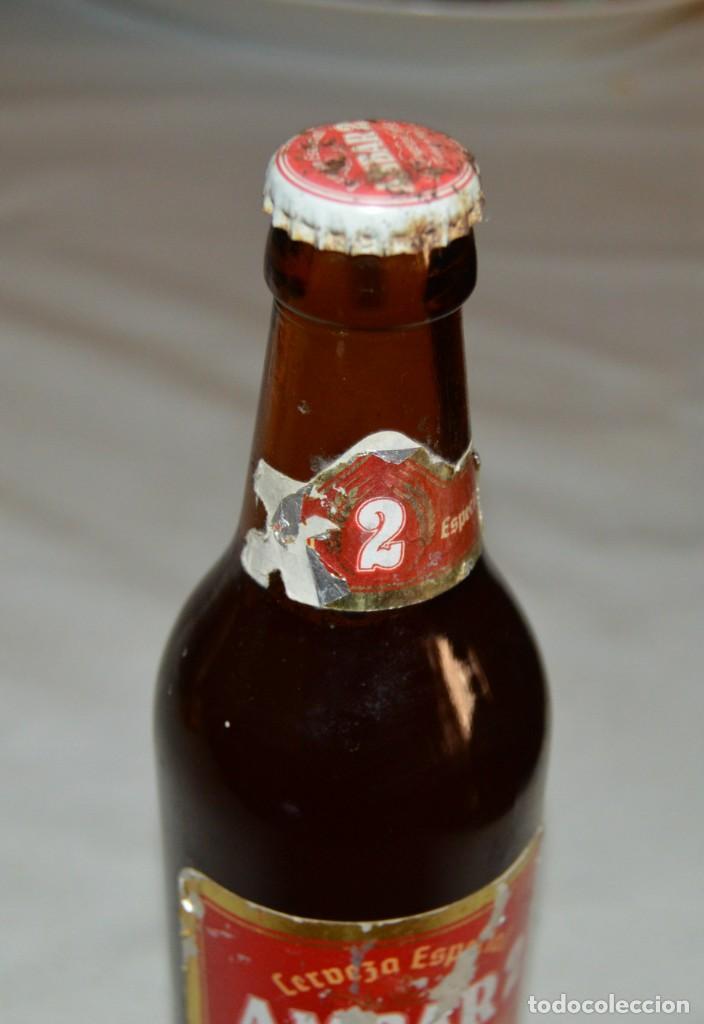 Coleccionismo de cervezas: BOTELLA - AMBAR 2 - COMPLETA - CON CHAPA - Foto 4 - 131654218