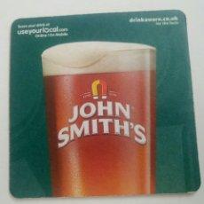 Coleccionismo de cervezas: POSAVASOS CERVEZA JOHN SMITHS GRAN BRETAÑA. Lote 132130205