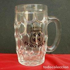 Coleccionismo de cervezas: JARRA DE CRISTAL CERVEZAS EURO PILS C.I.C.S.A. AÑOS 60 - CICSA SPAIN - CERVEZA. Lote 132282598