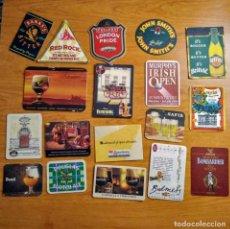 Coleccionismo de cervezas: LOTE DE 18 POSAVASOS ENORMES. Lote 132523058