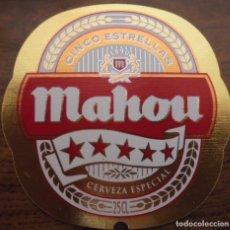 Coleccionismo de cervezas: ETIQUETA DE CERVEZA MAHOU CINCO ESTRELLAS . ETIQUETA COMPLETAMENTE NUEVA. SIN USAR.. Lote 132901374