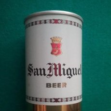 Coleccionismo de cervezas: CERVEZA SAN MIGUEL LATA DE ACERO HONG KONG AÑOS '60. Lote 134101434