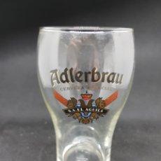 Coleccionismo de cervezas: VASO CERVEZA - ADLERBRAU - CAR111. Lote 134239374