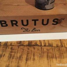 Coleccionismo de cervezas: EXPOSITOR EXHIBIDOR OFICIAL CERVEZA BRUTUS. Lote 134281222