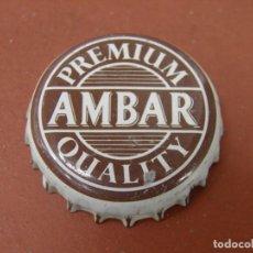 Coleccionismo de cervezas: 1 ANTIGUA CHAPA CERVEZA AMBAR. LA ZARAGOZANA. FAB. CHAPA: U----LOTE N. 2148---CARMANJO. Lote 134292442