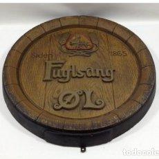 Coleccionismo de cervezas: TAPA BARRIL DE CERVEZA FUGLSANG. 42 CM DIÁMETRO. Lote 134716838