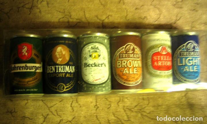 6 LATITAS MINI -COLECCION DE CERVEZAS-BODEGAS GARCÉS- - (Coleccionismo - Botellas y Bebidas - Cerveza )