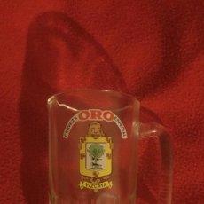 Coleccionismo de cervezas: ANTIGUA JARRA DE CERVEZA ORO ESPECIAL ESCUDO VIZCAYA. Lote 135376922
