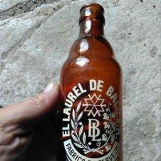 Coleccionismo de cervezas: BOTELLA CERVEZA LAUREL DE BACO RARA. Lote 135844138