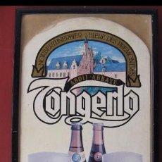 Coleccionismo de cervezas: CARTEL ENMARCADO PUBLICIDAD CERVEZA TONGERLO. Lote 135901214