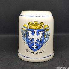 Coleccionismo de cervezas: JARRA CERVEZA - CERAMICA - SCHWEINFURT - CAR111. Lote 136088382